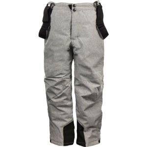 ALPINE PRO GUSTO šedá 128-134 - Dětské lyžařské kalhoty