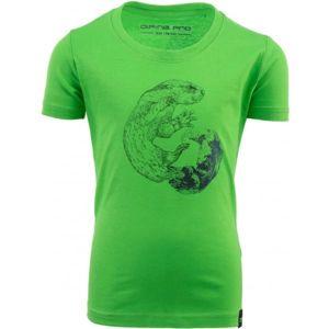 ALPINE PRO ODDO zelená 116-122 - Dětské triko