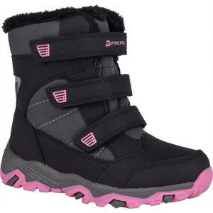 ALPINE PRO KURTO růžová 32 - Dětská zimní obuv
