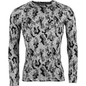 Arcore ERNO šedá L - Pánské termo triko s dlouhým rukávem