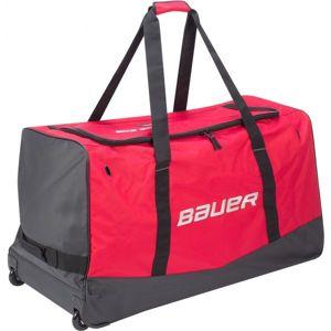Bauer CORE WHEELED BAG JR červená NS - Juniorská hokejová taška