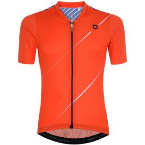 Briko FRESH GRANPH 4S0 oranžová XL - Pánský cyklistický dres