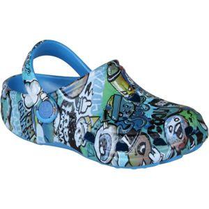 Coqui BIG FROG PRINTED modrá 34/35 - Dětské sandály