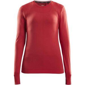 Craft FUSEKNIT COMFORT RN LS W červená L - Dámské funkční triko