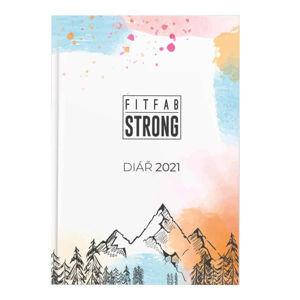 Fitfab Strong DIÁŘ 2021  UNI - Týdenní fitness diář pro rok 2021