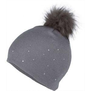 Lewro ROSMERY šedá 4-7 - Dívčí pletená čepice