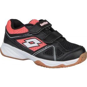 Lotto JUMPER 400  II CL S černá 32 - Dětská sálová obuv