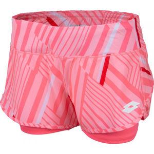 Lotto TOP TEN W SHORT PRT PL oranžová M - Dámské tenisové šortky