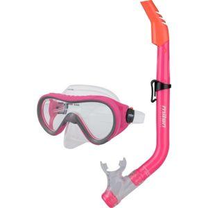 Miton ARAL MAUI 2 růžová NS - Juniorský potápěčský set