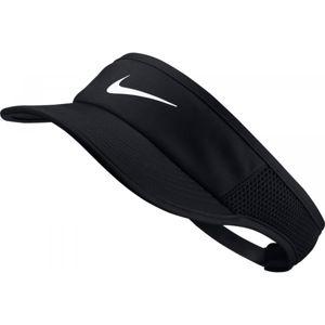 Nike AROBILL FTHRLT VISOR ADJ W černá UNI - Dámský kšilt