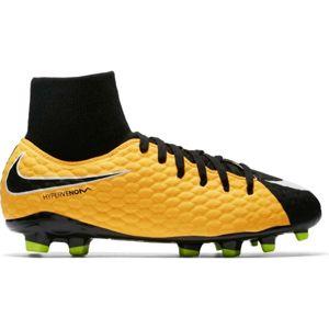 Nike HYPERVENOM PHELON FG DF JR žlutá 4 - Dětské kopačky