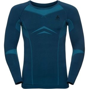 Odlo SUW MEN'S TOP L/S CREW NECK PERFORMANCE EVOLUTION WARM modrá L - Pánské triko