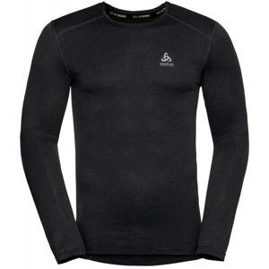 Odlo BL TOP CREW NECK L/S ACTIVE THERMIC černá L - Pánské funkční tričko